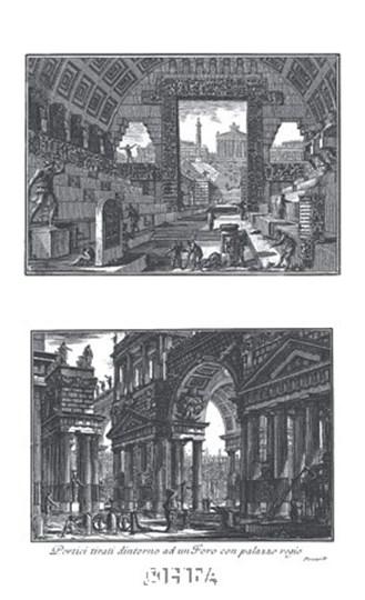 Portico by Francesco Piranesi art print