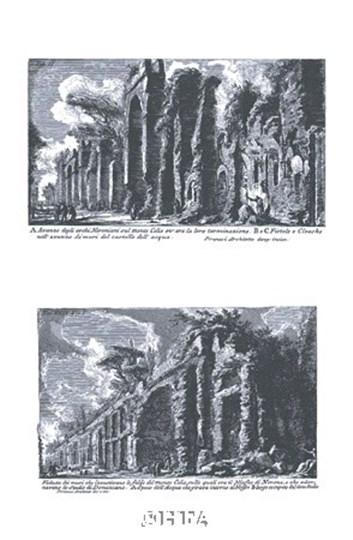 Avanzo degli archi Neroniani by Francesco Piranesi art print