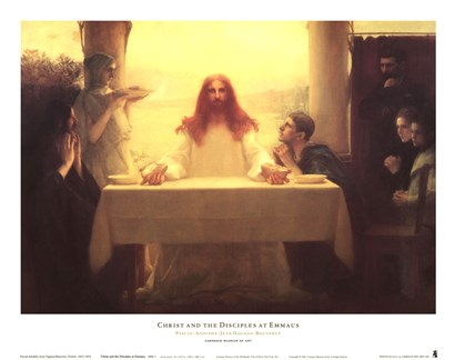 Christ and the Disciples at Emmaus by Pascal-adolphe Dagnan-bouveret art print