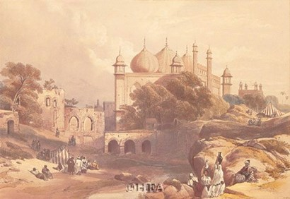 Jama Musjia Agra by David Roberts art print