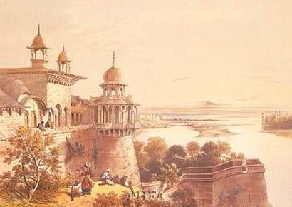 Palace and Fort at Agra by David Roberts art print