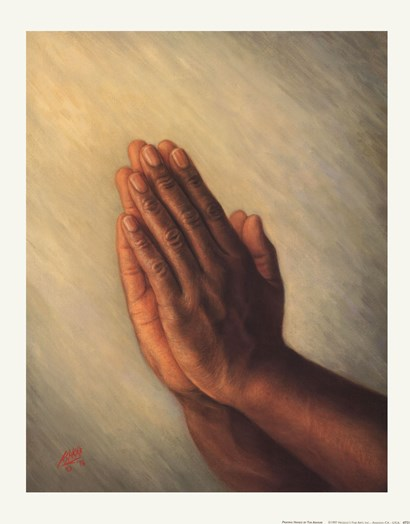 Praying Hands by Tim Ashkar art print