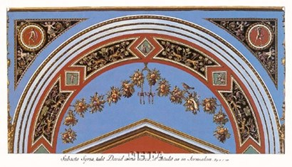 Detail/Loggia in the  Vatican II by Raphael art print