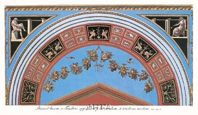 Detail/Loggia in the Vatican III by Raphael art print