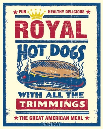 Royal Hot Dogs by Joe Giannakopoulos art print