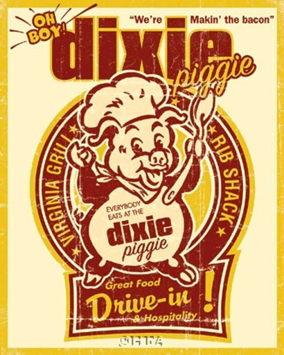 Dixie Piggie Drive-In by Joe Giannakopoulos art print