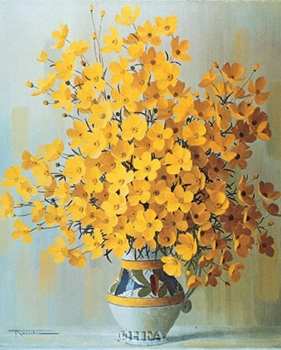 Yellow Bouquet by Rouviere art print