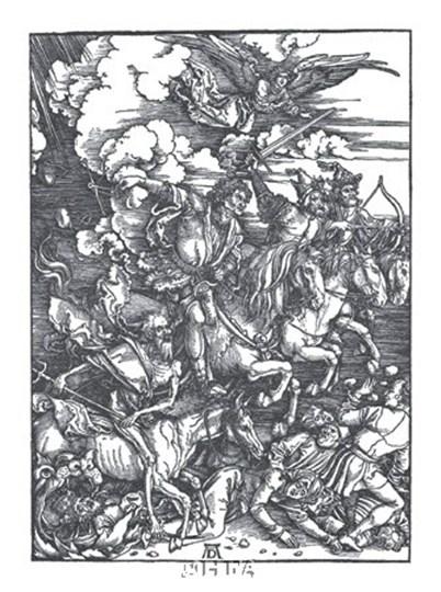 Four Horsemen of the Apocalypse by Albrecht Durer art print