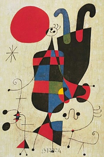 Inverted Personages by Joan Miro art print