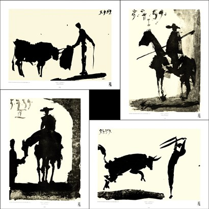 Picasso's Bullfight Set (set of four prints) by Pablo Picasso art print