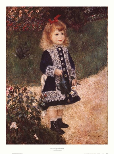 Girl with a Watering Can by Pierre-Auguste Renoir art print