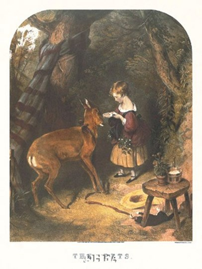 The Pets by Sir Edwin Henry Landseer art print