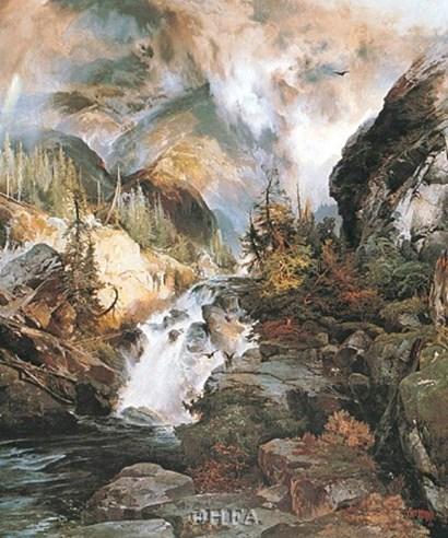 Children of the Mountain by Thomas Moran art print