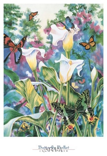 Butterfly Ballet by Joan Hansen art print