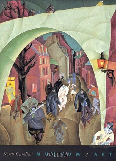 The Green Bridge II by Lyonel Feininger art print