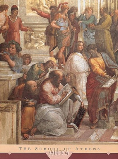 The School of Athens, c.1511 (detail, left) by Raphael art print