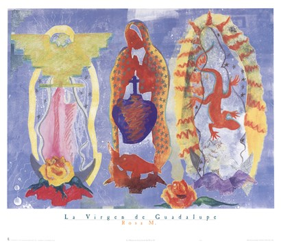 La Virgen De Guadalupe by Rosa M. art print