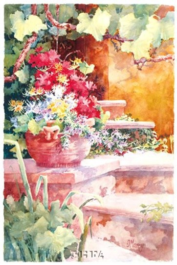 Steps of Provence by Diane Maxey art print