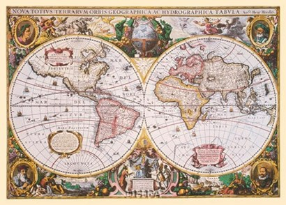 Flemish 1512-1594 by Mercator Map art print