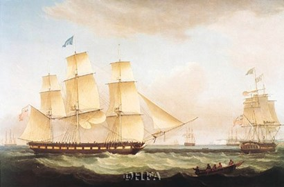 Medina off Dover by Thomas Whitcombe art print