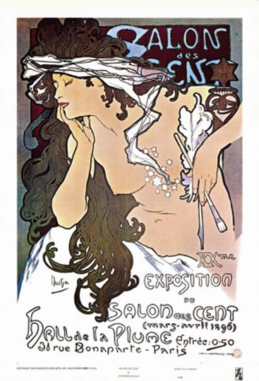 Salon des Cent by Alphonse Mucha art print