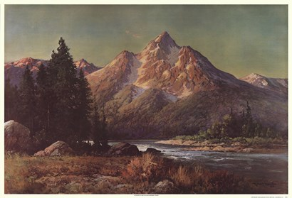 Evening in the Tetons by Robert Wood art print