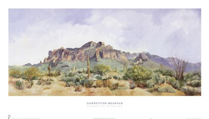 Superstition Mountain by Charlotte Klingler art print