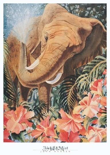 Jungle Mist by Joan Hansen art print