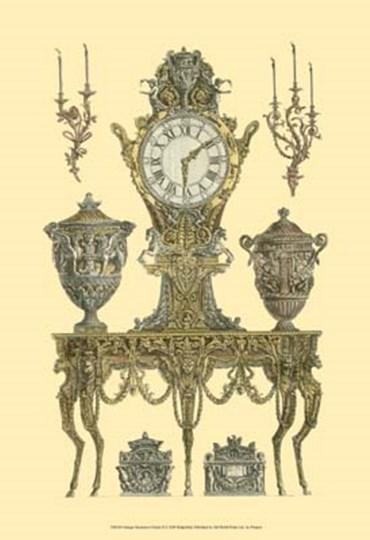 Antique Decorative Clock II by Francesco Piranesi art print