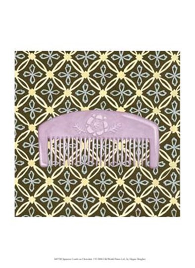 Japanese Comb on Chocolate I by Megan Meagher art print