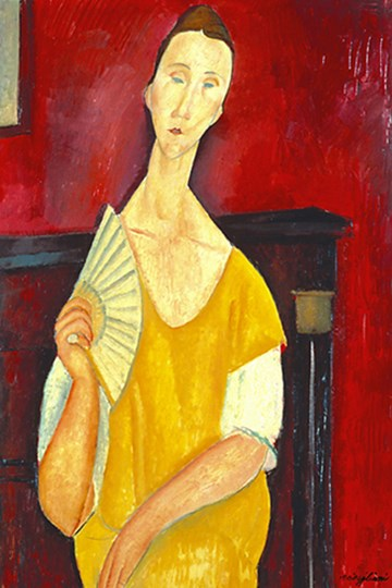 Woman with a Fan by Amedeo Modigliani art print