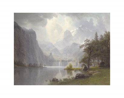 In the Mountains, 1867 by Albert Bierstadt art print