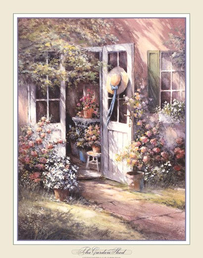 Garden Shed by George Bjorkland art print