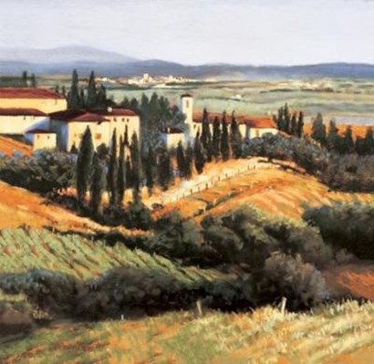 Distant Siena by Carol Jessen art print