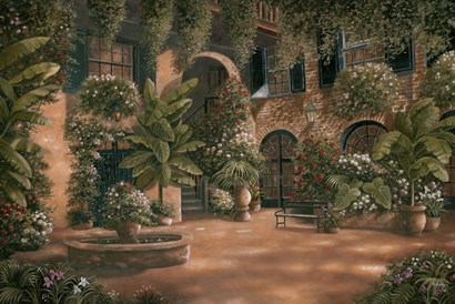 French Quarter Courtyard I by Betsy Brown art print