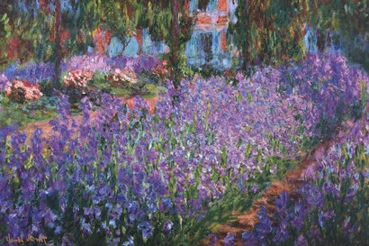 The Artist's Garden at Giverny, c.1900 by Claude Monet art print