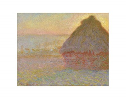 Grainstack (Sunset), 1891 by Claude Monet art print