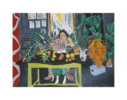 Interior with an Etruscan Vase (Intrieur au vase trusque), 1940 by Henri Matisse art print