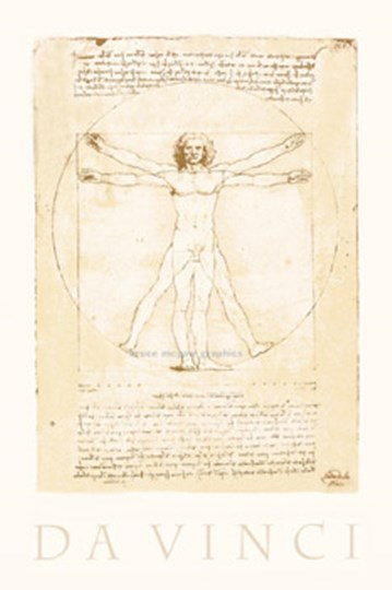 The Vitruvian Man by Leonardo Da Vinci art print