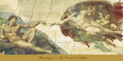 The Creation of Adam by Michelangelo Buonarroti art print