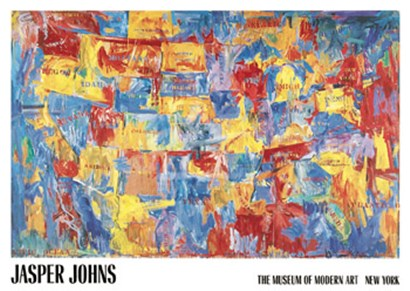 Map by Jasper Johns art print