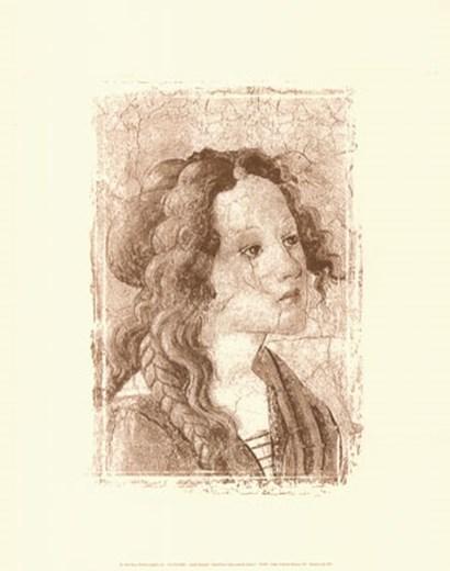 Detail: Venus & Graces I (embossed) by Sandro Botticelli art print