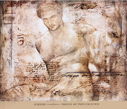 Achelous (metallic ink) by Richard Franklin art print