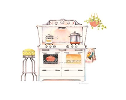 Cookin&amp;#39; with Chrome by Lisa Danielle art print