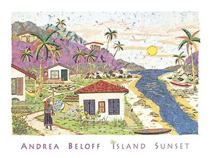 Island Sunset by Andrea Beloff art print