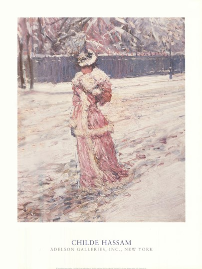 Lady in Pink by Childe Hassam art print