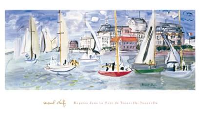 Regates dans le Port de Trouville by Raoul Dufy art print