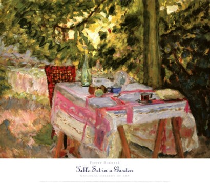 Table Set in a Garden by Pierre Bonnard art print