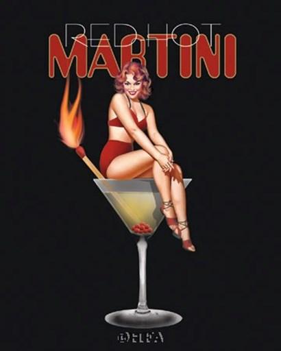 Red Hot Martini by Ralph Burch art print