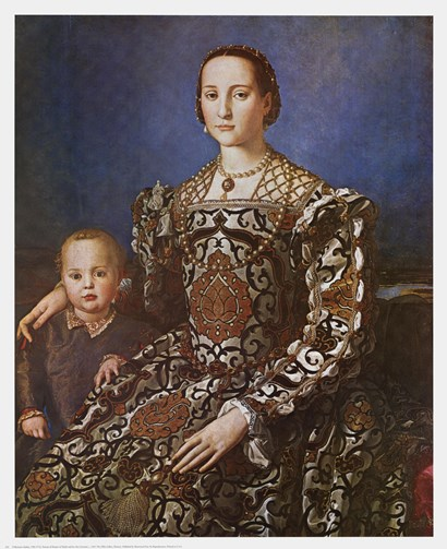 Agnolo Bronzino - Eleanore and Son Size 21x26 by Agnolo Bronzino art print
